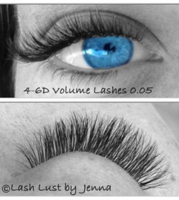 Russian Volume Lash Extensions 4-6D in 0.05